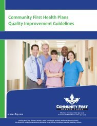 Full Clinical Guidelines - Community First Health Plans.