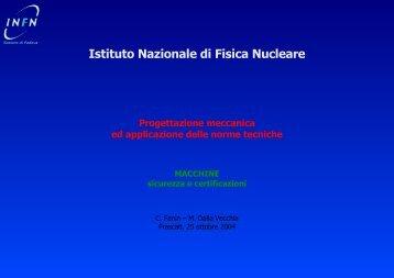 Progettazione meccanica ed applicazione delle norme tecniche - INFN