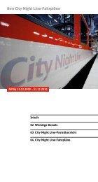 Ihre City Night Line-Fahrpläne - Treinreiziger.nl