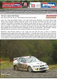 NEWSLETTER No. 9 - BTRDA Rally