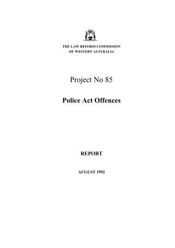 Final Report (August 1992) - Law Reform Commission of Western ...