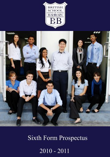 Sixth Form Prospectus - The British School of Bahrain