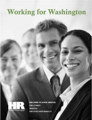 Working for Washington - Washington State Department of ...