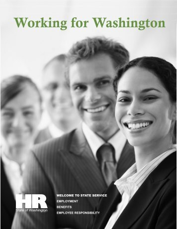 Working for Washington - Washington State Department of ...