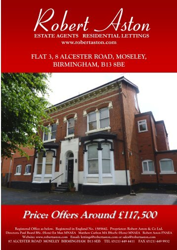 flat 3, 8 alcester road, moseley, birmingham, b13 8be - ISSL