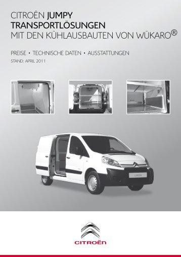 Preisliste Wükaro Kühlausbauten Jumpy Pdf Citroën
