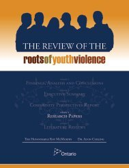 THE REVIEW OF THE - Ministry of Children and Youth Services