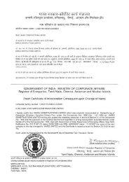 Memorandum of Association - MARG Group