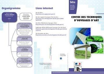 Liens internet CENTRE DES TECHNIQUES D'OUVRAGES D ... - Sétra