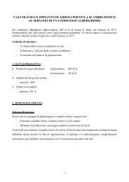 Calcolo dimensionamento addolcitore