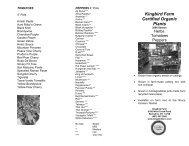 Kingbird Farm Certified Organic Plants