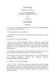 Agent artistique Article 12 I. – La section 5 du chapitre I du titre II du ...