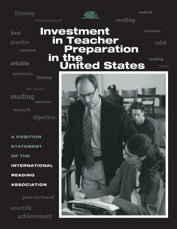 Investment in Teacher Preparation in the United States position ...