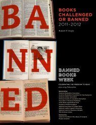 Books Challenged or Banned 2011-2012 - Illinois Library Association