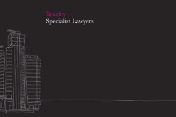 Specialist Law Firms brochure - Beazley