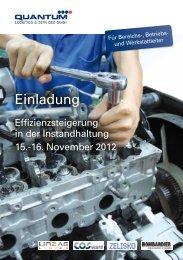 Einladung für >>Effizienzsteigerung in der Instandhaltung ... - Zelisko