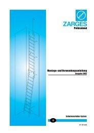 Aufbau- und Verwendungsanleitung ... - Zarges GmbH