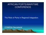 Role of Ports in Regional Integration - PMAESA