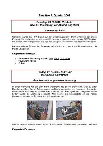 4. Quartal 2007 - Freiwillige Feuerwehr Bückeburg-Stadt