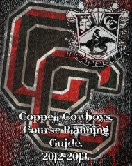 2012-13 CHS Course Guide - Coppell Independent School District