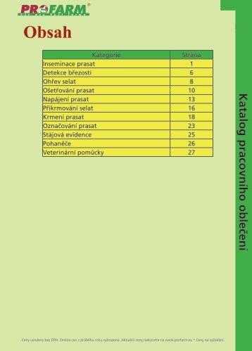 Katalog pracovního oblečení - Profarm