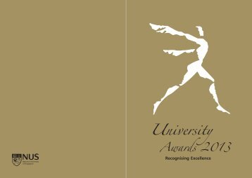 University Awards 2013 Commemorative Book