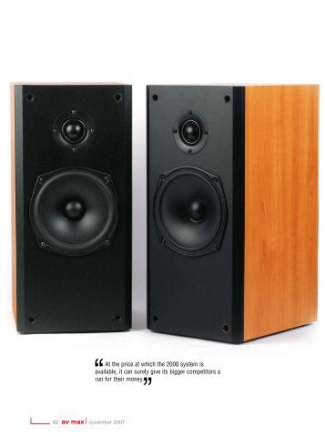 At the price at which the 2000 system is available, it ... - Norge Audio