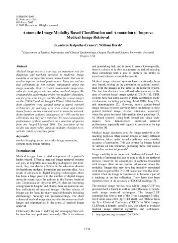 Automatic Image Modality Based Classification and Annotation to ...