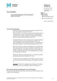 Vejledning i akut medicinsk indlæggelse på Gentofte - Sundhed.dk