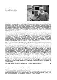 Dr. med. Stefan Wirz, Bad Honnef - Profile Regierungsbezirk Köln