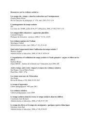 Ressources sur les rythmes scolaires : Les usages du ... - CDDP91