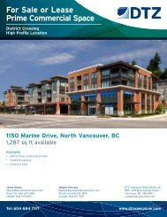 For Sale or Lease Prime Commercial Space - DTZ