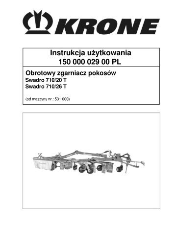Instrukcja u ytkowania 150 000 029 00 PL - Agromix