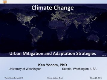 Climate Change: Urban Mitigation and Adaptation ... - UN-Habitat