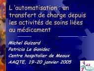 Automatisation et management de la sécurité thérapeutique ... - ADIPh