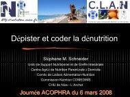 Dénutrition et critères de codage, NUTRICODE - ADIPh