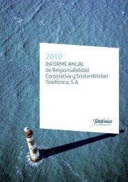 INFORME ANUAL de Responsabilidad Corporativa y Sostenibilidad ...