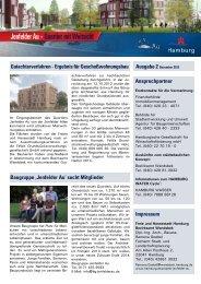 Jenfelder Au - Quartier mit Weitsicht - HAMBURG WATER Cycle