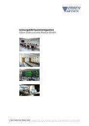 Leistungsbild Systemintegration Erben Elektronische Medien GmbH