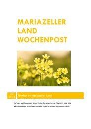 mariazeller land wochenpost - Mariazellerland Blog