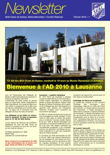Newsletter 2010 - Skal International Switzerland
