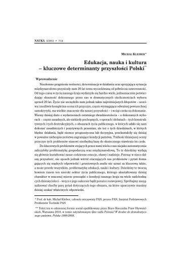 Edukacja, nauka i kultura – kluczowe determinanty przyszłości Polski