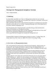 Hegele Langversion - Malik - Strategie komplexer M - Org-Portal.org