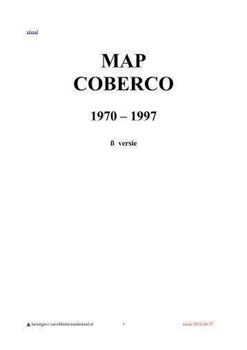 MAP Zuivelindustrie COBERCO - Zuivelhistorie Nederland