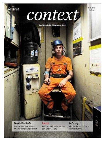 Nr. 11 / November 2011 - Die Pause (PDF, 5016 kb) - KV Schweiz