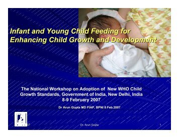 Infant and Young Child Feeding for Enhancing Child Growth ... - BPNI