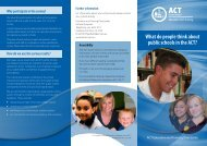 School Satisfaction Survey 2011 - Education and Training ...