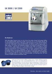 Datenblatt LB 2000 (pdf-Datei) - Wendum - Lavazza Espresso Point