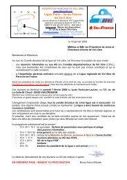 Convocation AG 2009 - Ligue Paris Ile de France de Vol Libre - FFVL