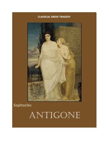an analysis of greek values in antigone by sophocles